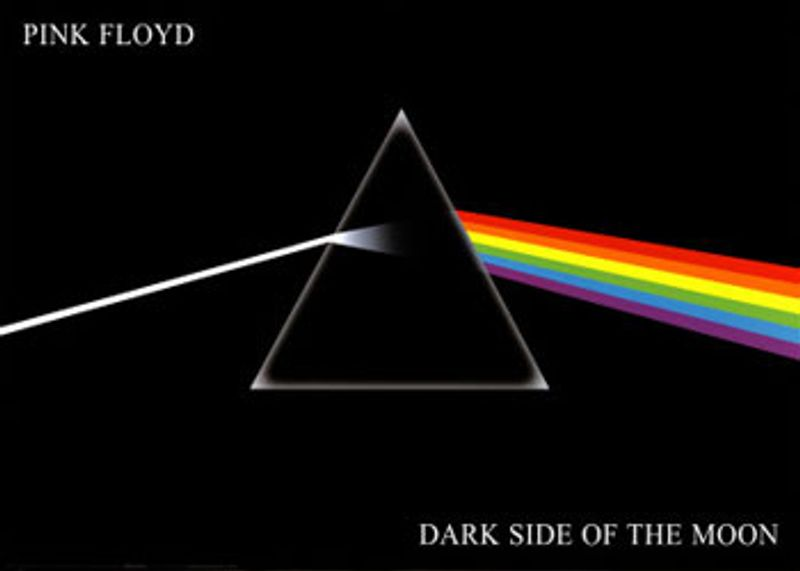 Pink floyd dark side of the moon poster amoeba music for Dark side of the moon mural