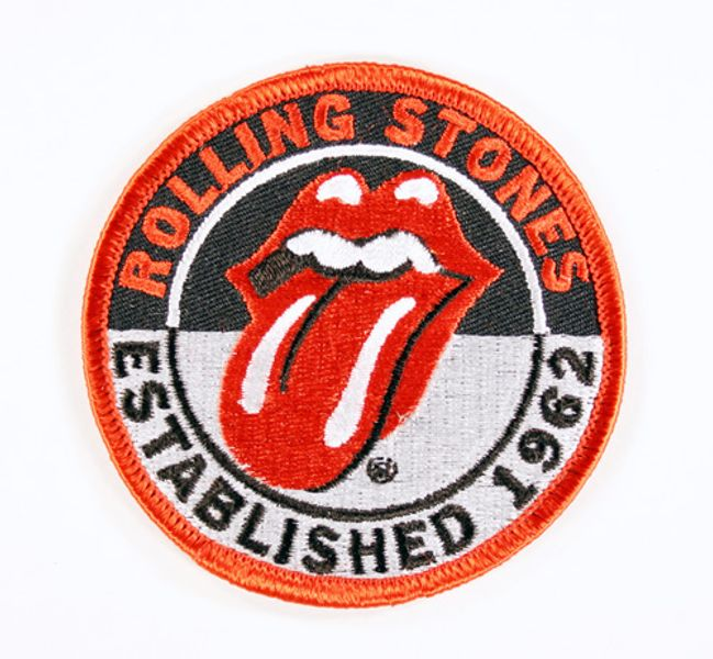 The Rolling Stones Circular Tongue Logo Patch Amoeba
