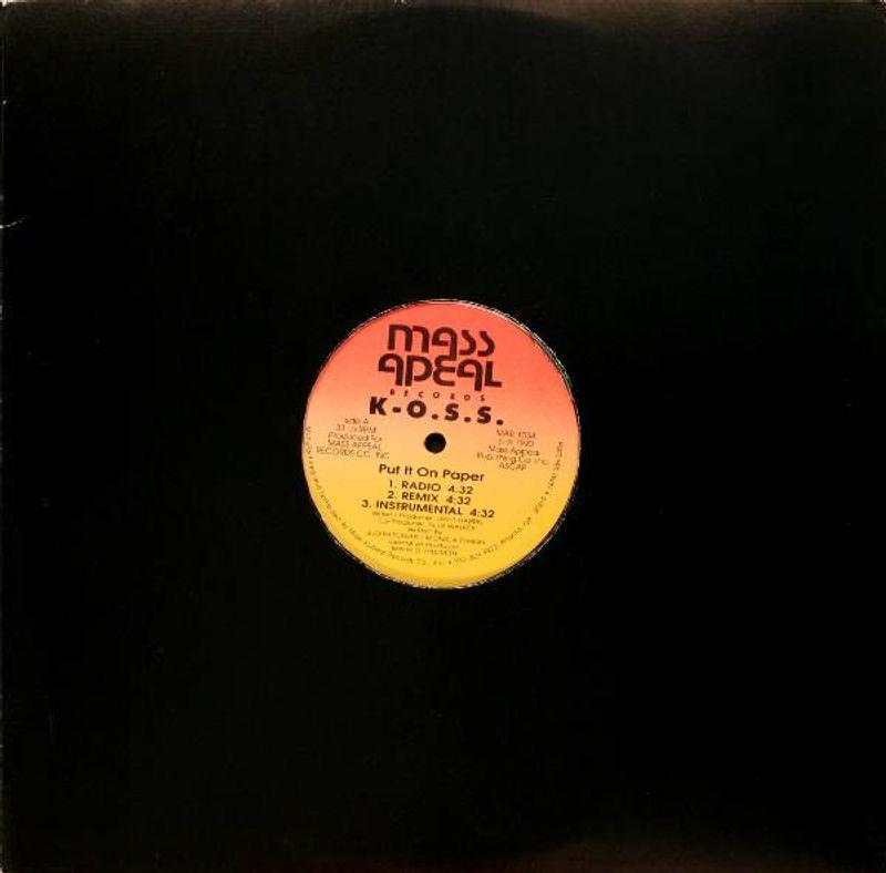 K-O S S  - Put It On Paper / We Got Muscle (Vinyl 12