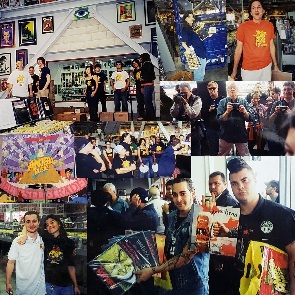 Amoeba Hollywood opening day 2001