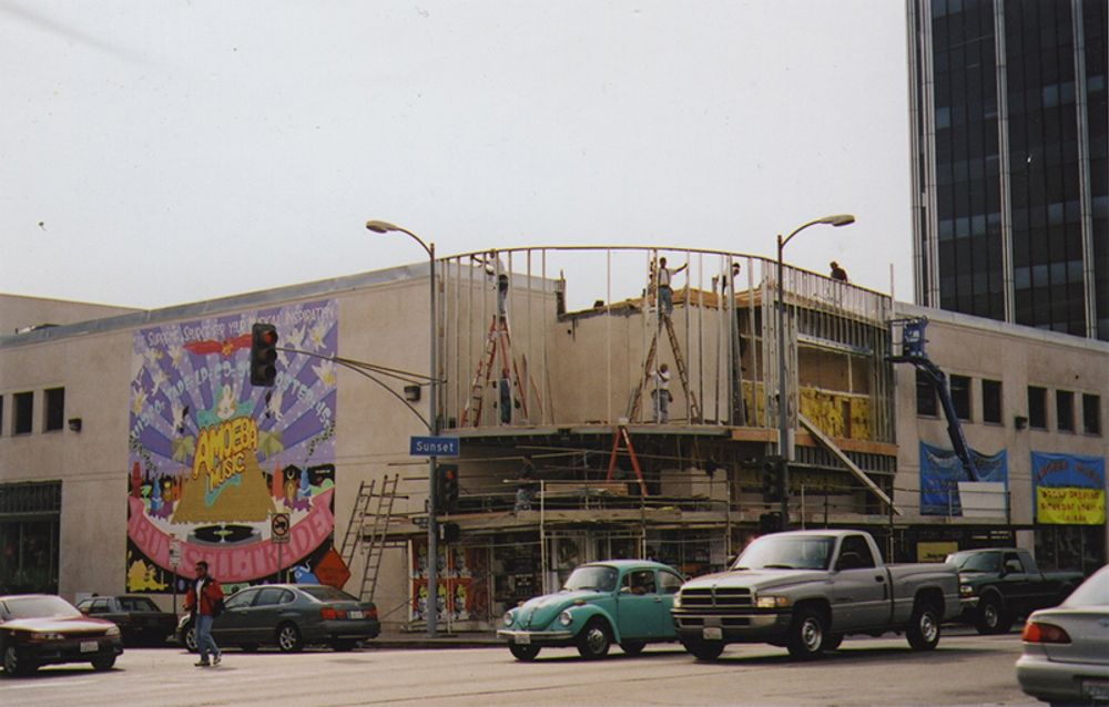 Amoeba Hollywood construction