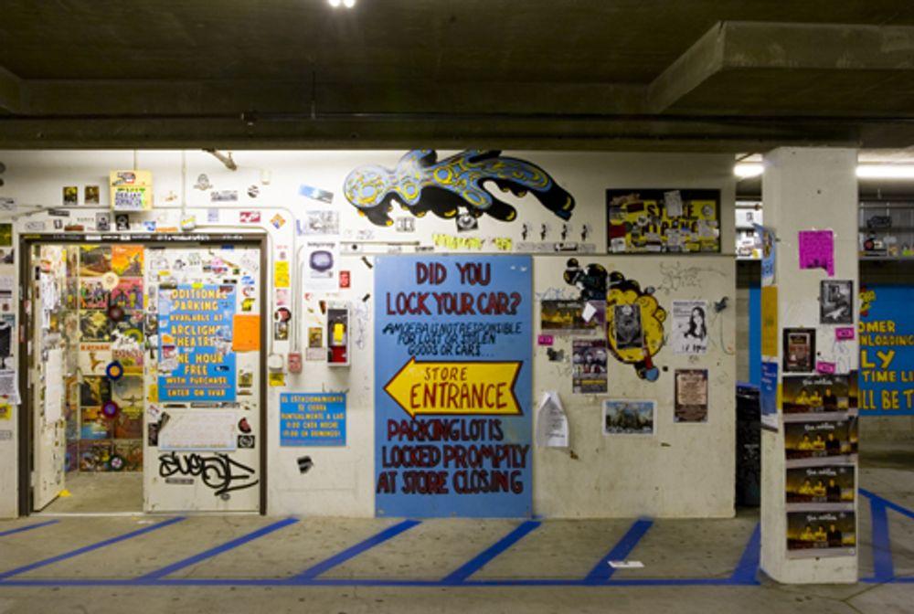 Amoeba Hollywood parking garage entrance