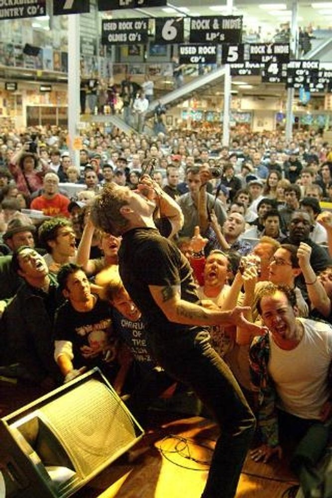 Henry Rollins on stage at Amoeba Hollywood 2002