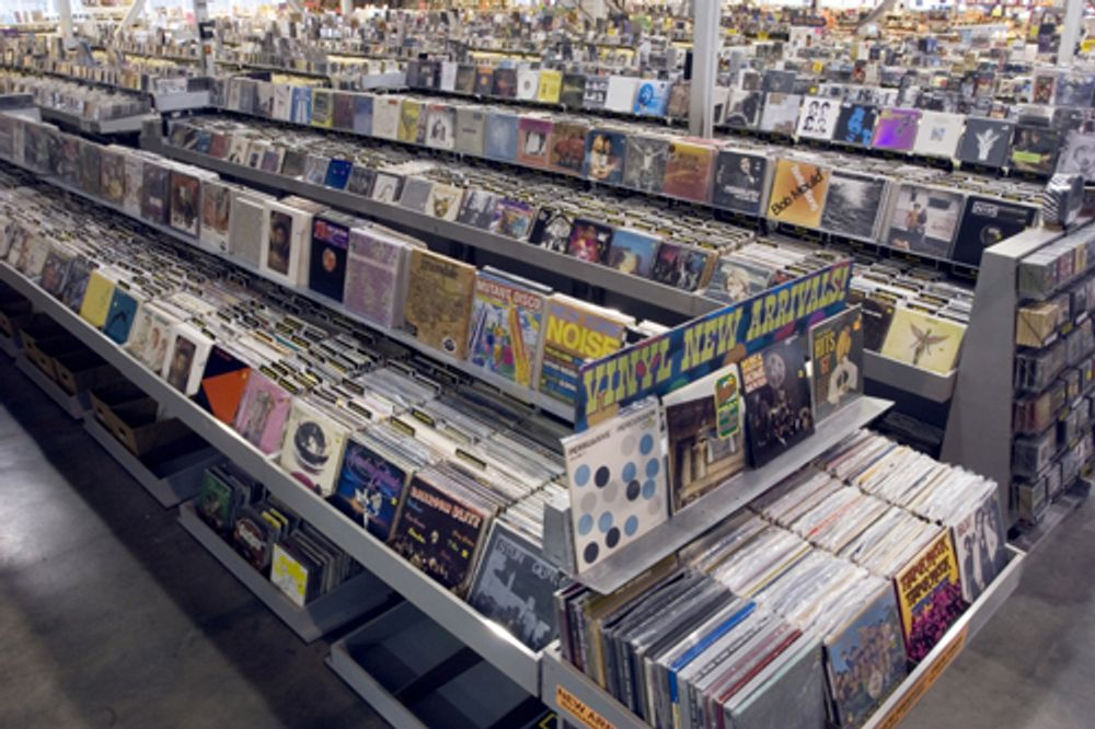 amoeba Hollywood rock vinyl early