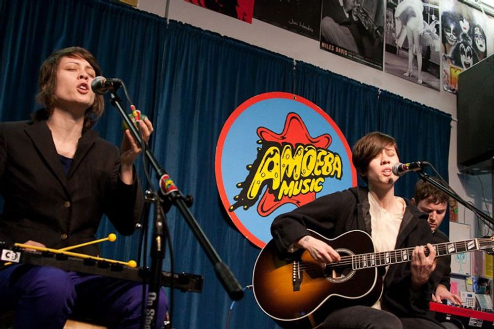 Tegan and Sara at Amoeba Berkeley