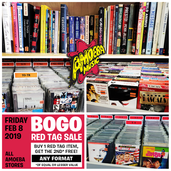 Red Tag BOGO Sale at Our Stores Friday, February 8