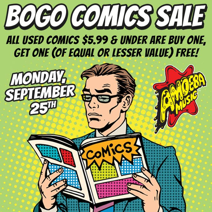 BOGO Comic Book Sale at Our Stores Monday, September 25