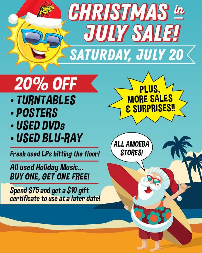 Christmas In July Images Free.Amoeba Music Christmas In July Sale At Our Stores Saturday