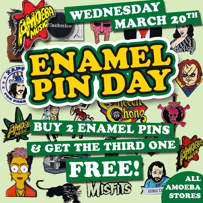 Enamel Pin Day at Our Stores Wednesday, March 20