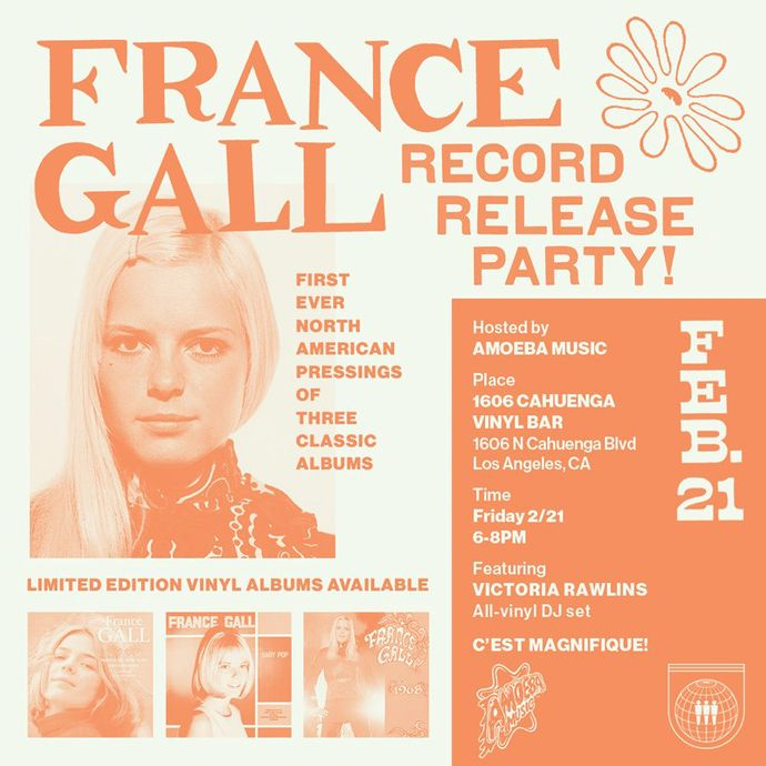 France Gall Record Release Party in Hollywood Friday, February 21