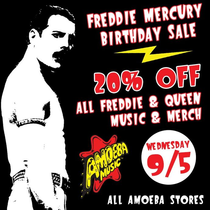 20 Off Freddie Mercury Queen Items At Our Stores September 5