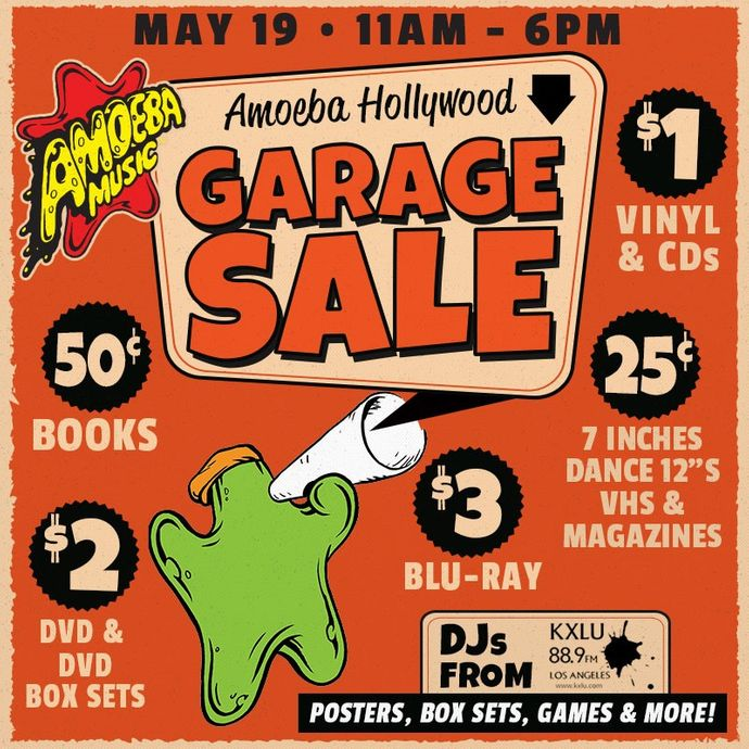 Garage Sale at Amoeba Hollywood on Saturday, May 19
