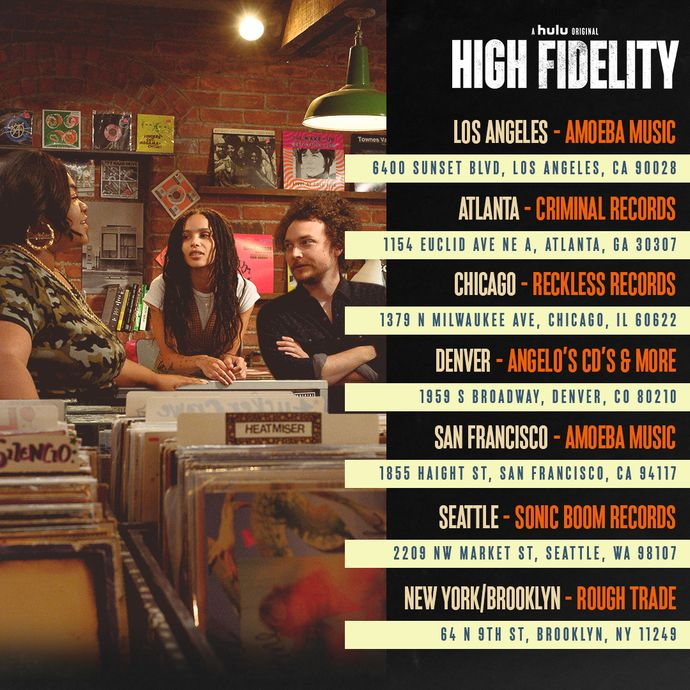 High Fidelity Pop-Up Events at Amoeba Hollywood & San Francisco February 13-15