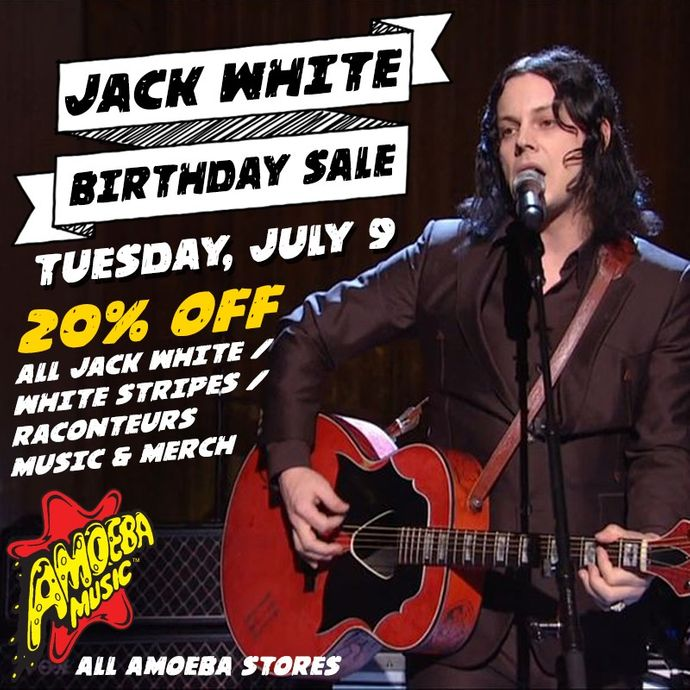 20% Off Jack White & White Stripes Items at Our Stores July 9