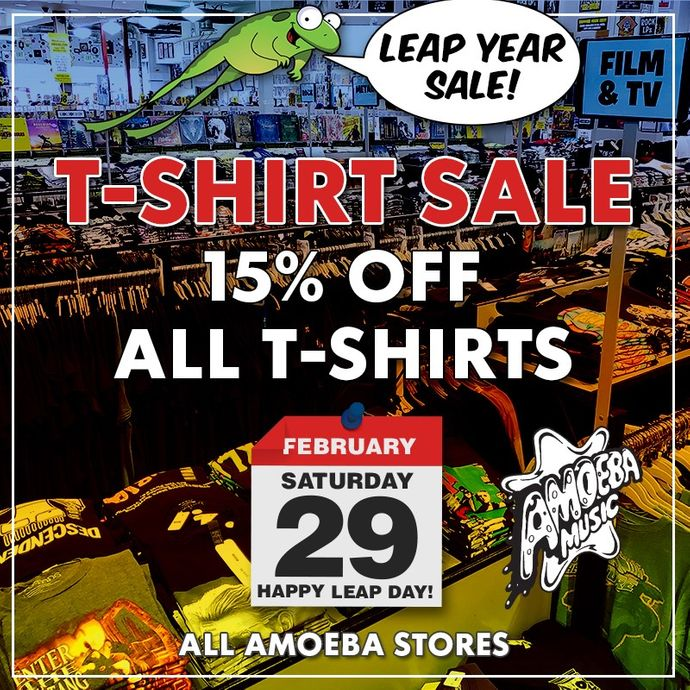 15% Off T-Shirts at Our Stores Saturday, February 29