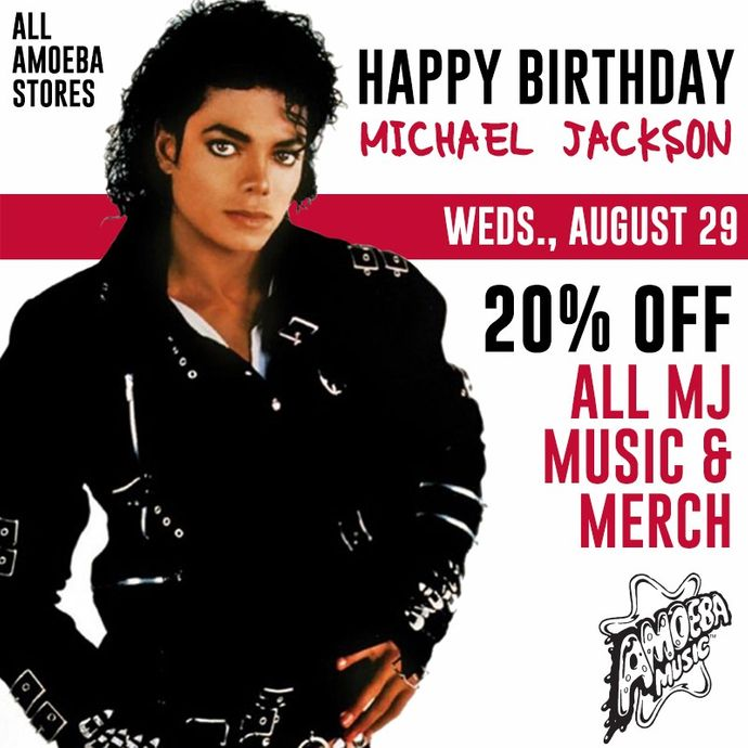 amoeba music 20 off michael jackson music merch at our stores august 29. Black Bedroom Furniture Sets. Home Design Ideas