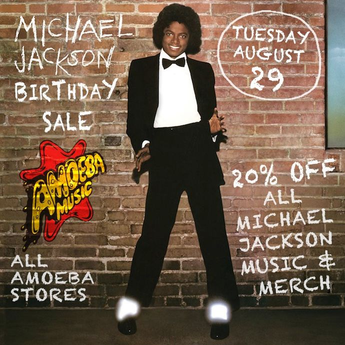 amoeba music 20 off michael jackson music merch at our stores tuesday august 29th. Black Bedroom Furniture Sets. Home Design Ideas