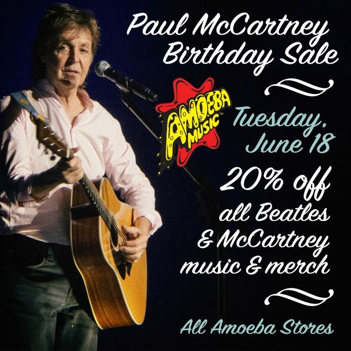 20% Off Paul McCartney Music & Merch at Our Stores June 18