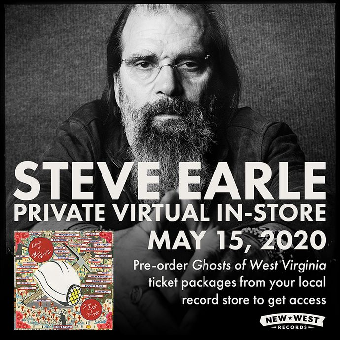 Steve Earle Private Virtual In-Store Performance To Support Indie Record Stores