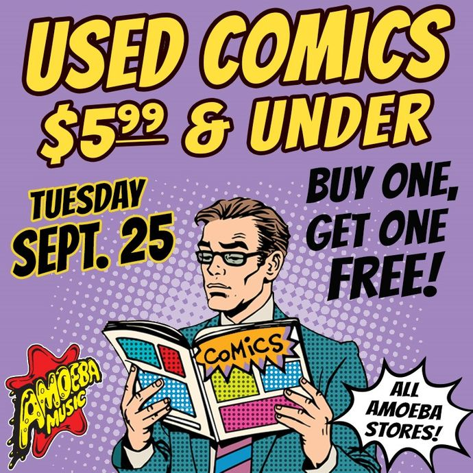 amoeba music used comic book bogo sale at our stores tuesday