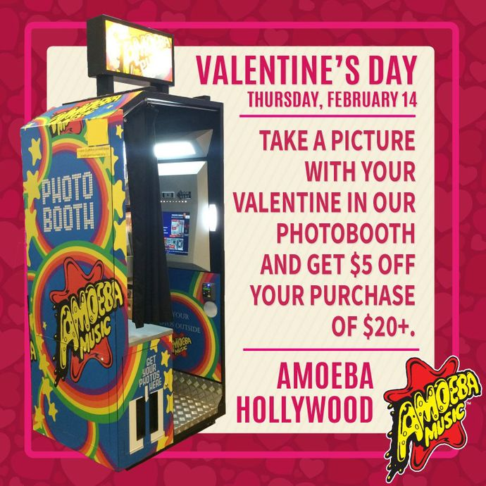 Valentine's Day Photo Booth Discount at Amoeba Hollywood