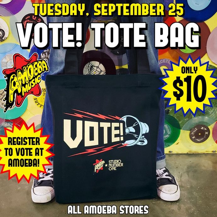 cf363e8ef2 Amoeba Music - Sale on VOTE! Tote Bags at Our Stores Tuesday ...